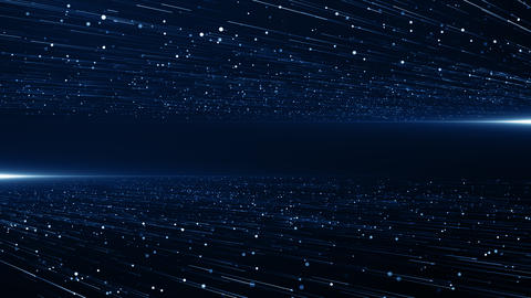 Particles blue event game trailer titles cinematic concert stage background loop Animation
