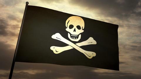 Pirat flag 03 Animation
