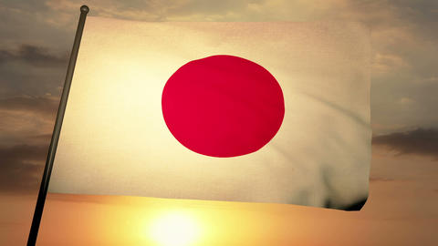 Flag Japon 05 Animation