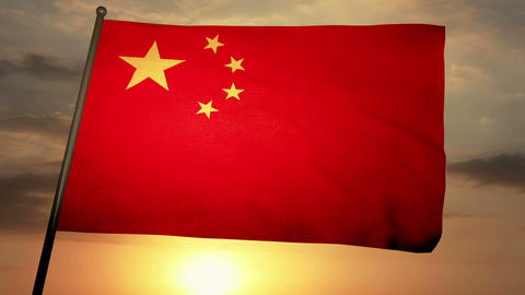 Flag china 05 Animation