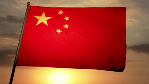 Flag china 05 Animation