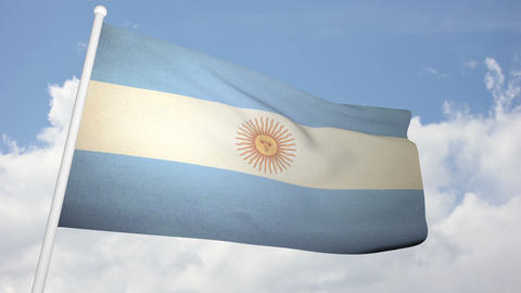 Flag Argentina 03 Stock Video Footage