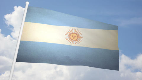 Flag Argentina 03 Animation