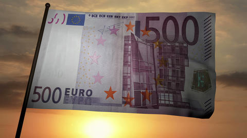 500 Euros bill flag 03 Animation