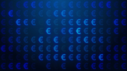 Euro symbol background loop Animation