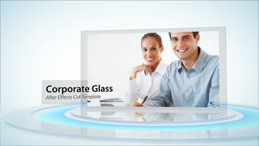 Corporate Glass Display stock footage