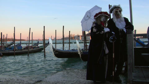 venetian mask 01 Stock Video Footage