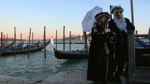venetian mask 01 Stock Video Footage