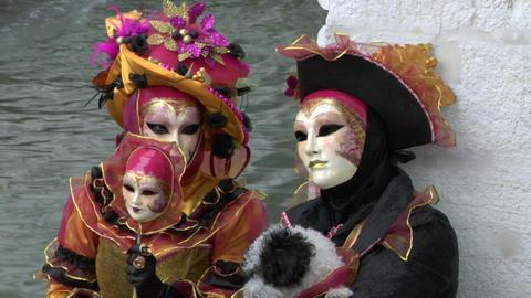 venetian mask 22 Stock Video Footage