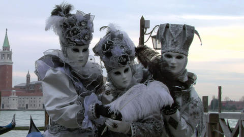 venetian mask 42 Stock Video Footage