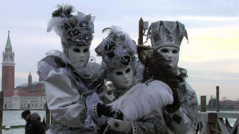 venetian mask 42 Stock Video Footage