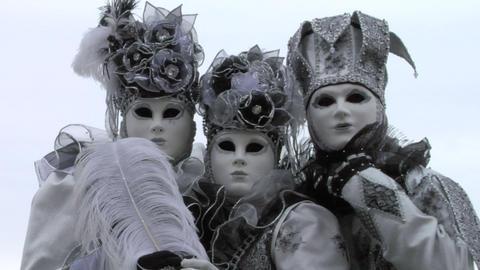 venetian mask 44 Stock Video Footage