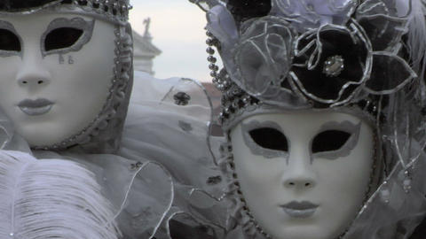 venetian mask 46 Stock Video Footage