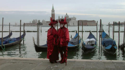 venetian mask 61 Stock Video Footage