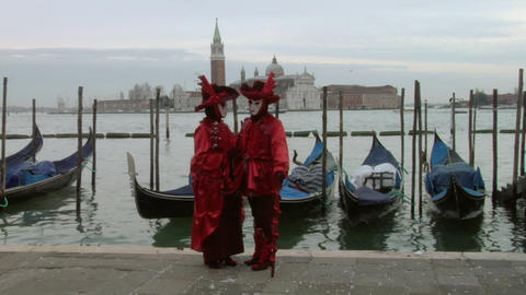 venetian mask 61 Stock Video Footage