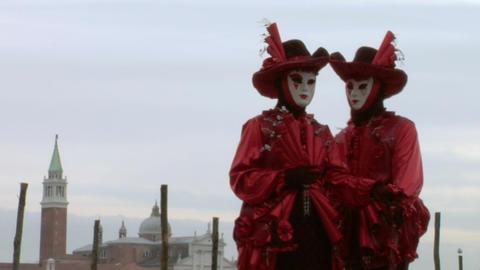 venetian mask 63 Stock Video Footage