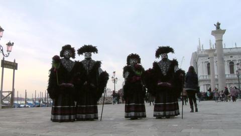 venetian mask 81 Stock Video Footage