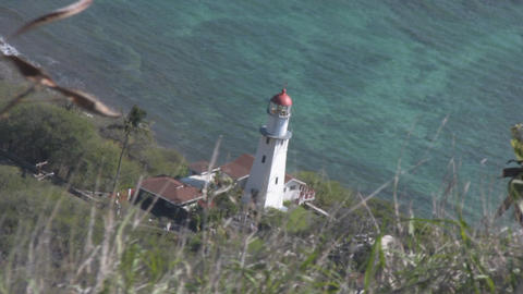 Diamond Head Lighthouse 02 Stock Video Footage