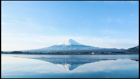 a nverted image of Mt. Fuji Stock Video Footage