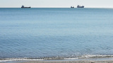 Ships On Shore stock footage