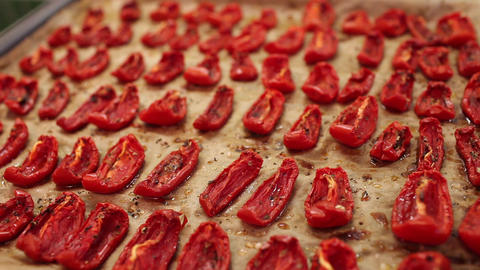 Sun  Dried  Tomatoes stock footage