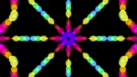 flower pattern,color circle shaped music rhythm... Stock Video Footage