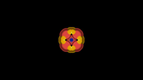 color glass flower pattern,FRP circle music rhythm... Stock Video Footage