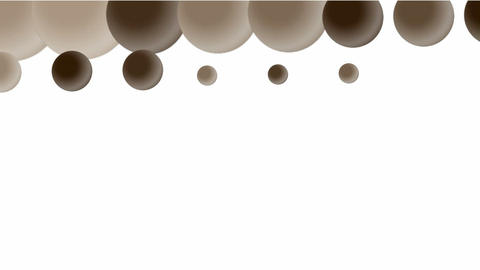 3d rolling balls,chocolat... Stock Video Footage