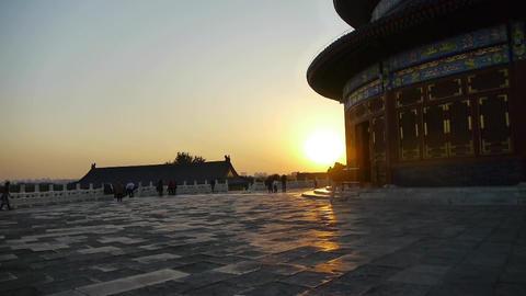 Temple of Heaven in Beijing.China slate floor ancient... Stock Video Footage