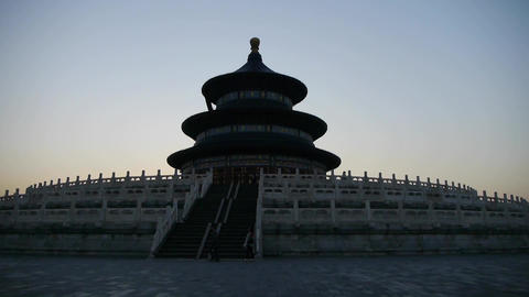 Panorama of Temple of Heaven in Beijing.China's royal ancient architecture Footage
