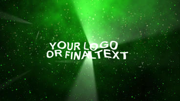 Intro Wavy Text stock footage