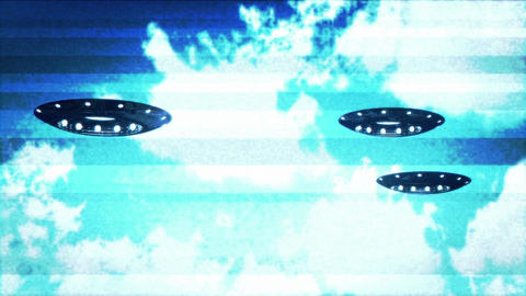 Ufo On Earth under Clouds Ufo 13 Stock Video Footage