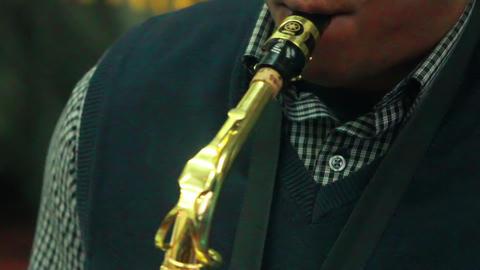 Black man plays music 2 Stock Video Footage