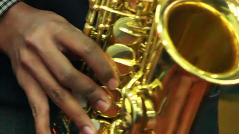 Black man plays music 4 Stock Video Footage