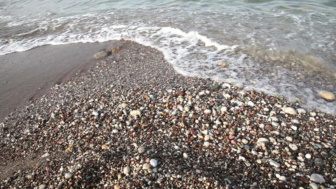 Sea waves at the beach Stock Video Footage