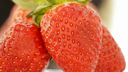 Delicious Strawberries Close Up Loop stock footage