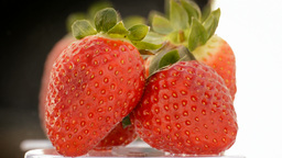 Strawberries Fruit Loop stock footage