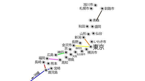 4 K Japan Cities Subway Map Design 3 Stock Video Footage