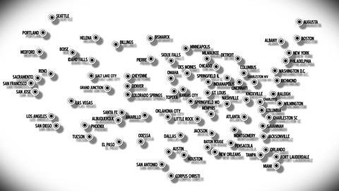 4 K USA Main Cities Subway Map Design 2 Stock Video Footage