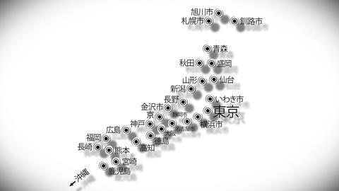 Japan Cities Subway Map Design 4 Stock Video Footage