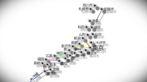 Japan Cities Subway Map Design 4 Stock Video Footage