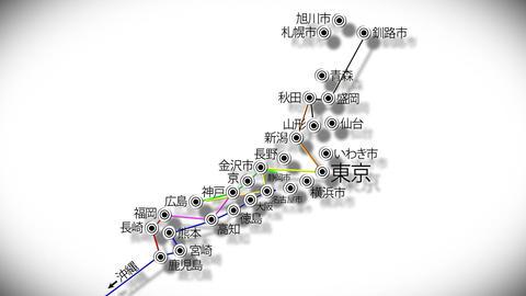 Japan Cities Subway Map Design 4 CG動画素材