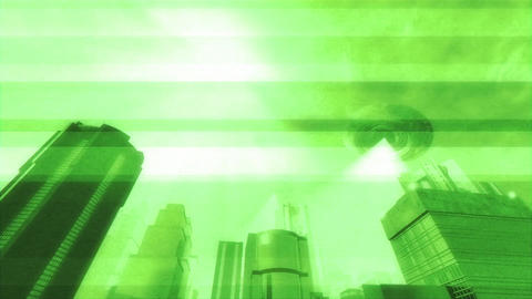UFO Invasion Scanning in Metropolis 11 Animation