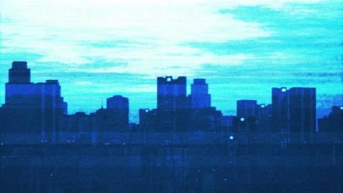 UFO Scanning over Metropolis 10 Stock Video Footage