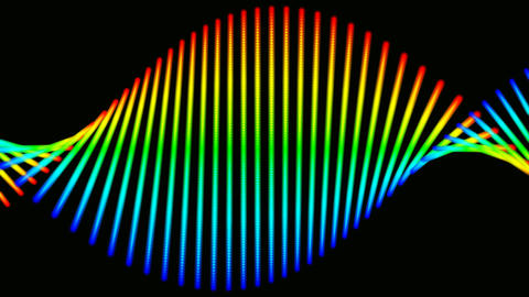 dna colors with alpha Stock Video Footage