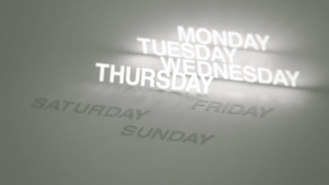 Days, Months Glowing Timeline Animation