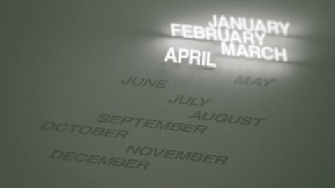 Days, Months Glowing Timeline Stock Video Footage