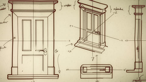 Technical Door Design Smooth Camera Pan and Zoom Animation