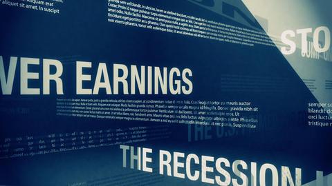 Happy Sounding Economic Headlines Loop Stock Video Footage