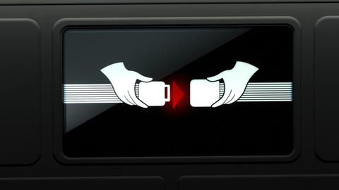 Bumps Ahead: Fasten Seat Belt Sign Animation